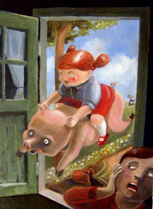 Der Höllenritt – Ölgemälde von Thilo Weckmüller von 2011