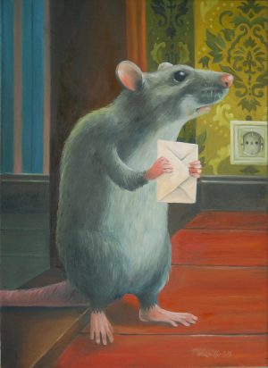 Der Liebesbrief ein Gemälde von Thilo Weckmüller