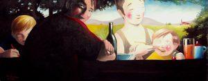 Familienvergnügen – Ölgemälde von Thilo Weckmüller