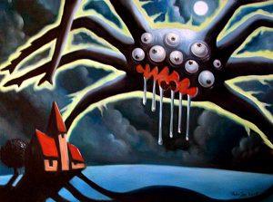 Unheil – Ölgemälde von Thilo Weckmüller von 2003