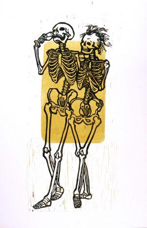 Auf die Ewigkeit – Linoldruck von Thilo Weckmüller