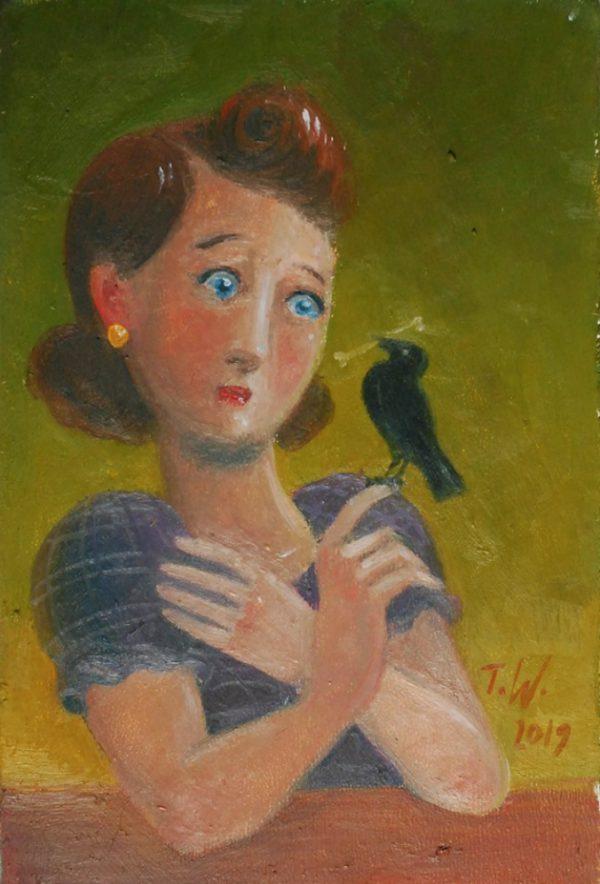 Der Vogel Trübsal Ölgemälde von Thilo Weckmüller