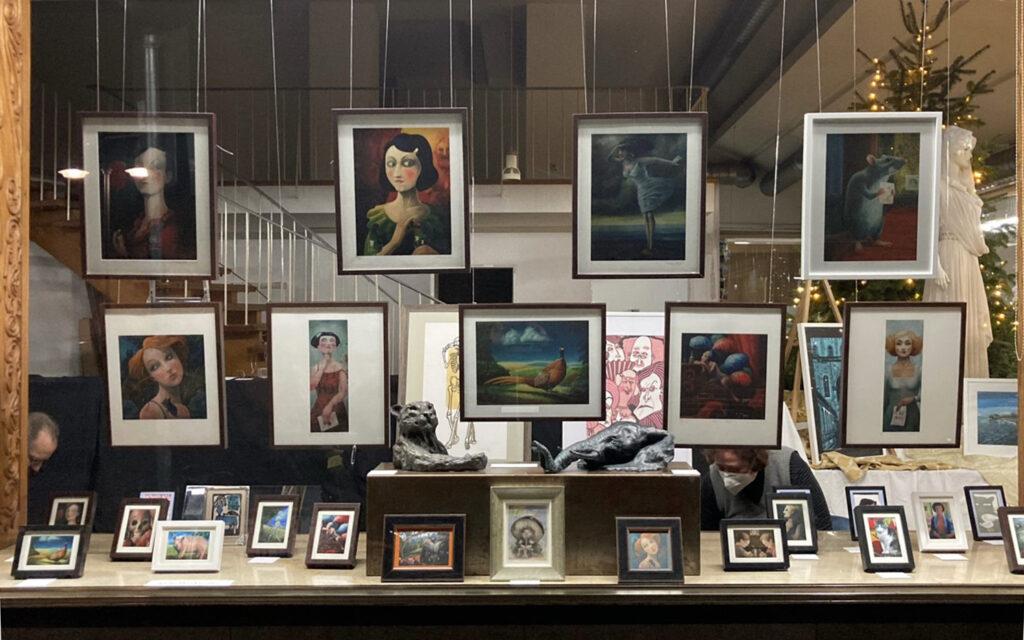 Ausstellung ab 08.12.2020–17.01.2021 – Weihnachten hinter Glas – Ölgemälde von Thilo Weckmüller – 2