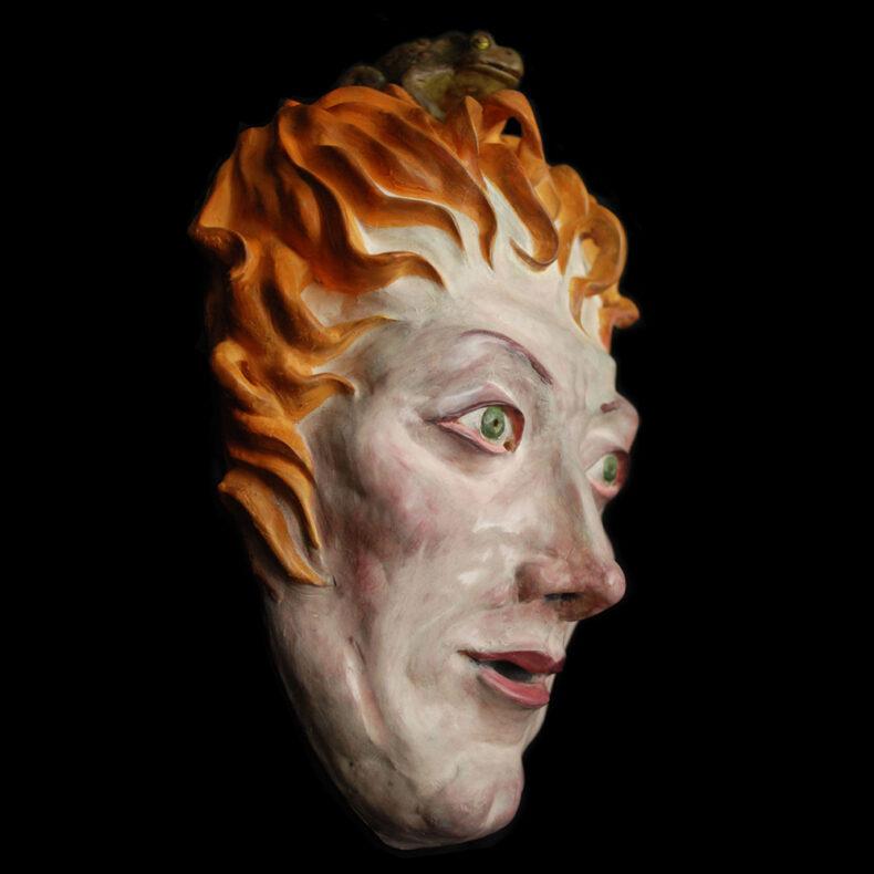Hexe 1 – Keramik von Thilo Weckmüller Ton farbig gefasst
