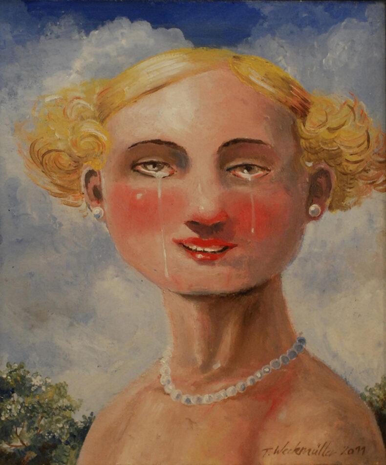 Henriette weint – Ölbild von Thilo Weckmüller von 2011