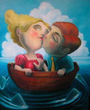 Liebe ist ein Boot – Ölgemälde von Thilo Weckmüller