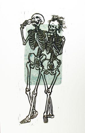 Auf die Ewigkeit 2 – Linoldruck von Thilo Weckmüller