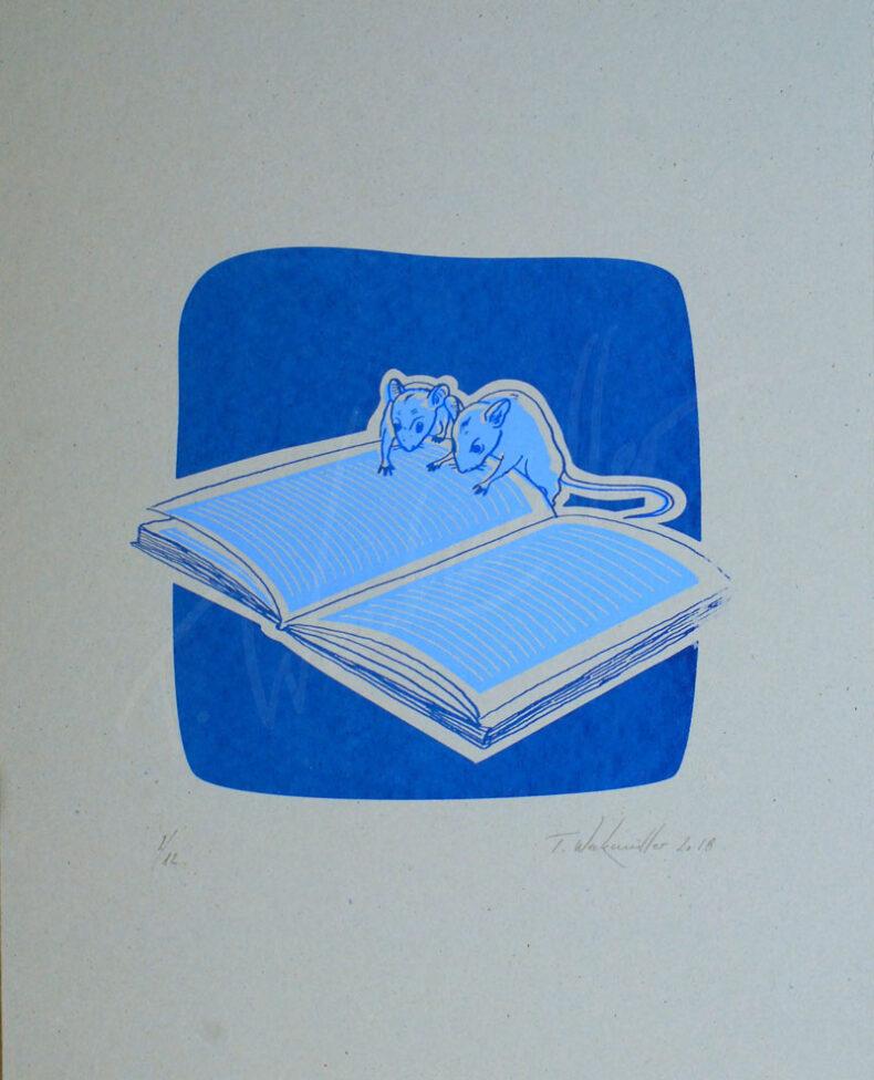 Lesende Mäuse – »Karl Marx – Das Kommunistische Manifest«