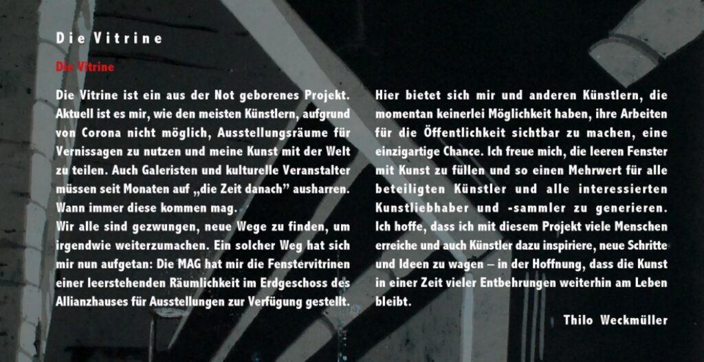 »Die Vitrine« 2. Ausstellung in Mainz Oktober bis November 2020 – Folder Seite 2