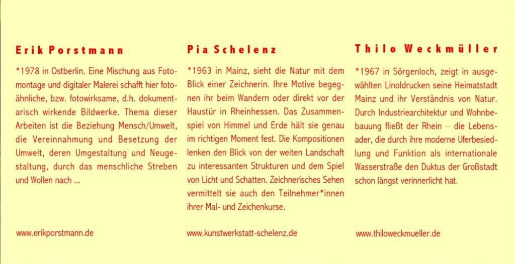 »Die Vitrine« 2 Ausstellung in Mainz Oktober bis November 2020 – Folder Seite 3
