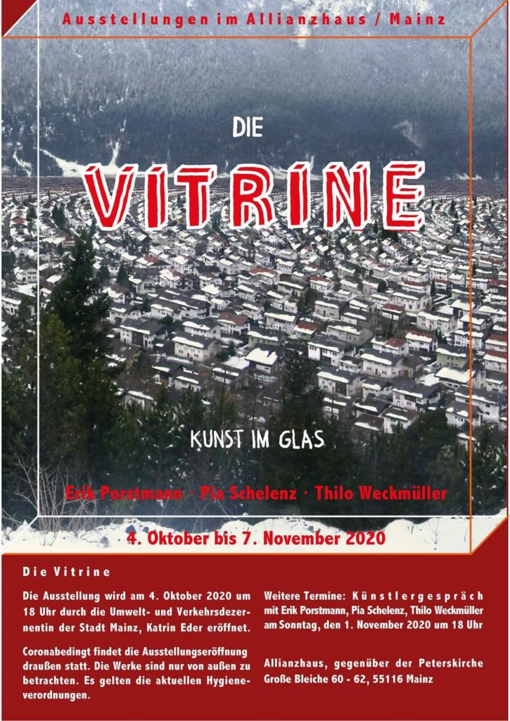 »Die Vitrine« 2. Ausstellung in Mainz Oktober bis November 2020 – Plakat