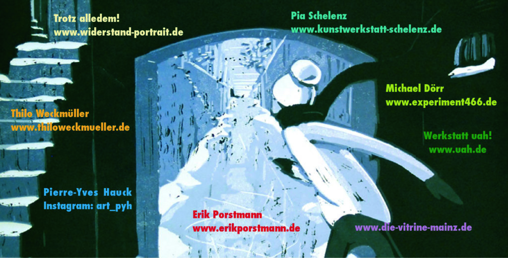 Ankündigung der Ausstellung in Mainz – Weihnachten hinter Glas – Thilo Weckmüller