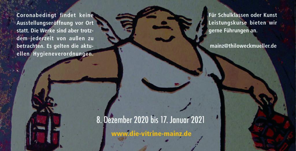 Folder Ankündigung der Ausstellung in Mainz – Weihnachten hinter Glas – Seite 2